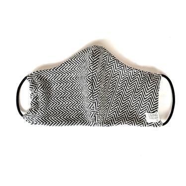 Artisan Woven Face Mask | Herringbone Charcoal