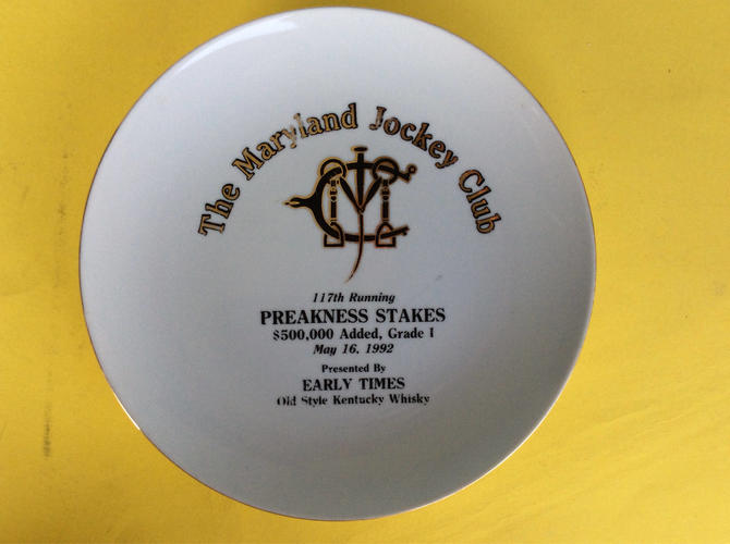117th Running of the Preakness Stakes Commemorative Plate by nauhaus