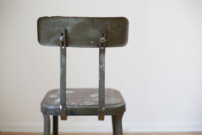 industrial factory machinist stool by Lyon by jeglova