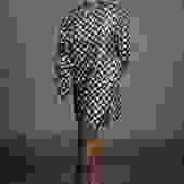 Black & Silver Lame Mini Dress