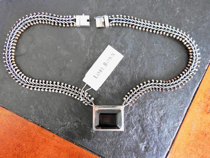 Vintage Sterling Smoky Quartz Lori Bonn New with Tags Necklace by LegendaryBeast