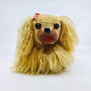 Vintage 50s Stuffed Toy Dog Golden Cavalier King Charles Spaniel English Toy Spaniel Pekingese by AuntyEntitysVintage