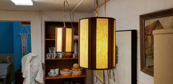 Perfect Pair of Mid-Century Modern Hanging lights