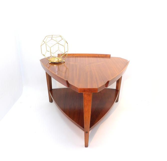Lane Rosewood Inlaid End Table Sofa Coffee 1960's Mid Century Modern Walnut Altavista Virginia Danish Modern Bedroom Living Lamp Entryway by MakingMidCenturyMod