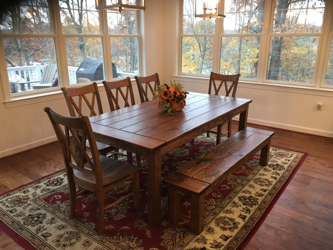 Dining Table, Farmhouse Table, Reclaimed Wood Table, Kitchen Table, Custom  Table,