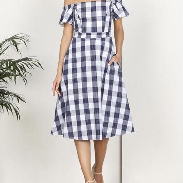 Gingham A line dress
