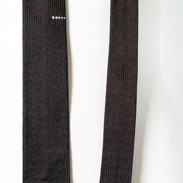 Vintage Black Skinny Tie, Mens 1950's, 1960's Necktie, Rat Pack, Beatnick, Geometric, Mid Century Vintage Suit by Boutique369