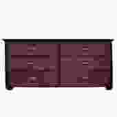 Oriental Bamboo Accent 6 Drawers Console Sideboard Table Cabinet cs4940S