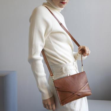 NOS small leather envelope shoulder bag by EELT