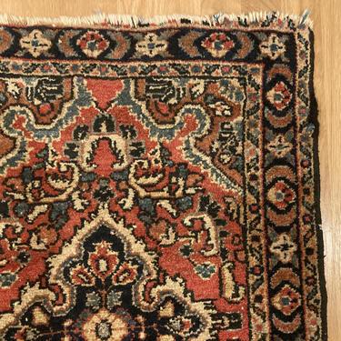 Vintage Rug 1' 11 x 2' 9 Small Red Farmhouse Rug by JessiesOrientalRugs