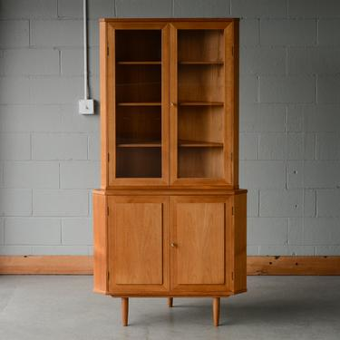 Mid-Century Corner Cabinet by Vinde Møbelfabrik Teak Danish Modern by MadsenModern