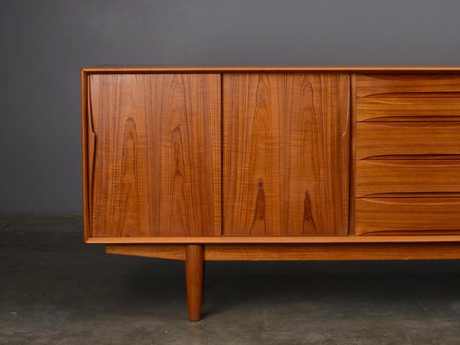 7ft Mid Century Sideboard Credenza Teak Danish Modern by MadsenModern