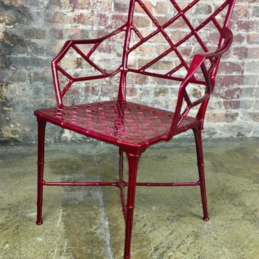 FREE SHIPPING Vintage Brown Jordan Calcutta faux bamboo arm chair by CurbsideSalvageLLC