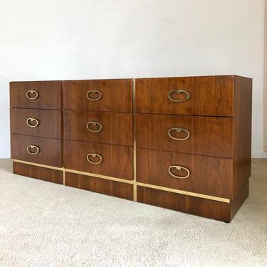 mid century Founders walnut 9 drawer dresser danish modern by TripodModern