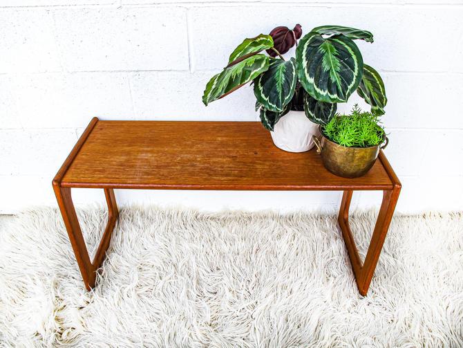 Beautiful Danish Mid-Century Modern Vintage Wood Bench / Coffee Table by PortlandRevibe