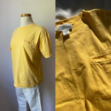 60s Yellow Tee Shirt by DiscoLaundryVintage
