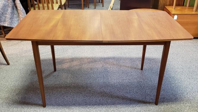 Item #T44 Mid-Century Modern Teak Dining Table w/ Butterfly Leaf by McIntosh c.1960s