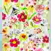 Fresh Flower Garden Dishtowel Set