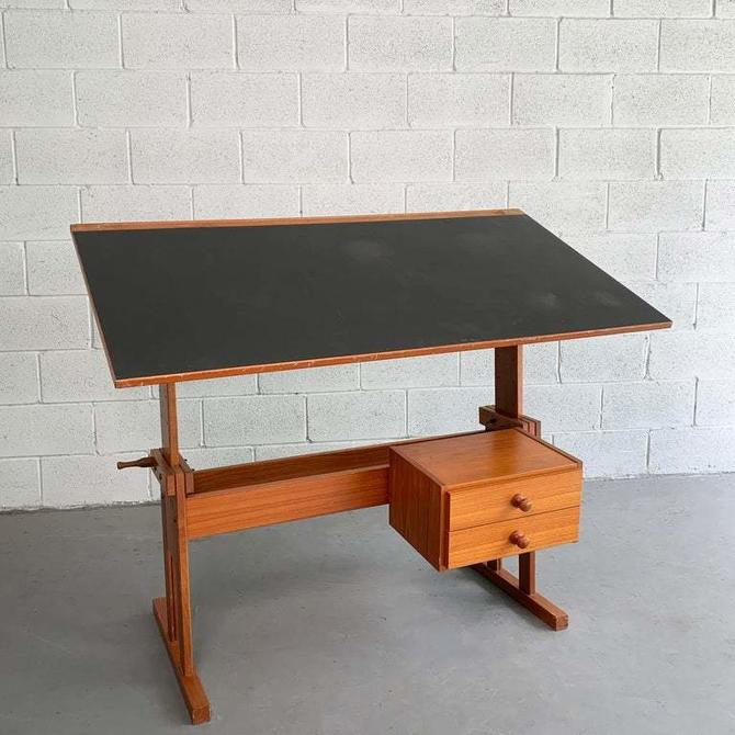 Danish Modern Drafting Table By Mobelfabriken Trekanten