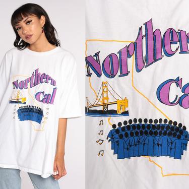 Northern California Tshirt San Francisco Choir Shirt 90s Golden Gate Bridge Tshirt Graphic Tee Shirt 1990s Vintage 3xl 2xl xxxl by ShopExile