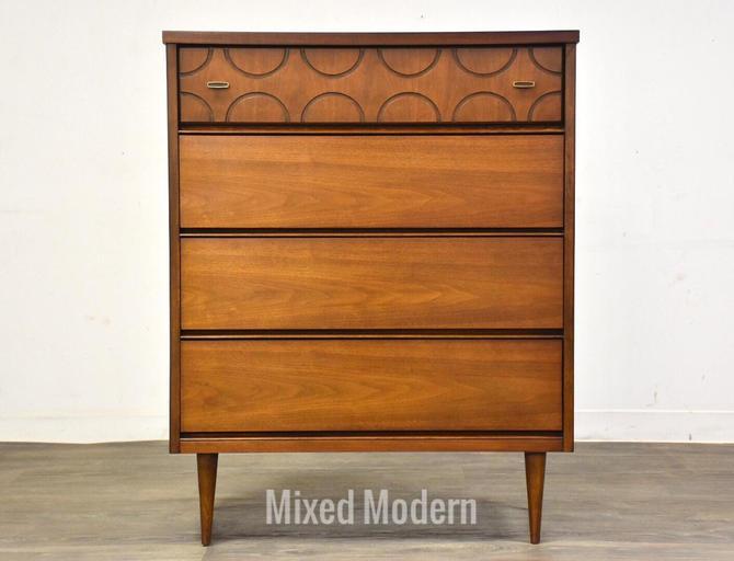 Walnut Bassett Tall Dresser by mixedmodern1