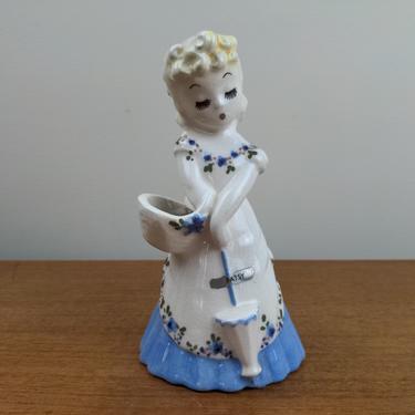 Vintage deLee Art Pottery Ceramic Vase | Blue Patsy | Bud Vase Posy Planter | Jimmy Lee Stewart | Hollywood CA by TheFeatheredCurator