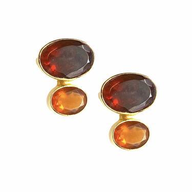 Fire Opal Double Stud Ear
