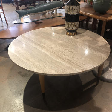 Travertine Mid Century Modern Coffee Table by bcdrygoods