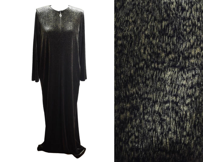 Georgette Trabolsi Vintage Velvet Dressing Gown, Bias Cut Dress ...