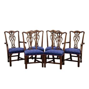 Set of 6 Henredon Carved Mahogany Chippendale Dining Chairs by 2ndStoryTradingCo