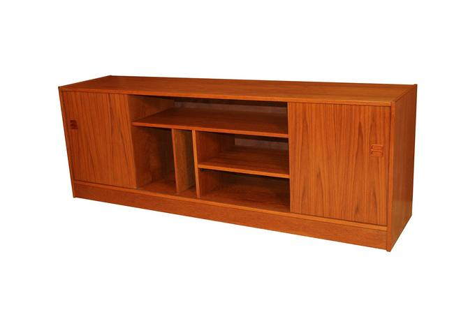Mid Century Modern Danish Teak Media Credenza Cabinet by Marykaysfurniture
