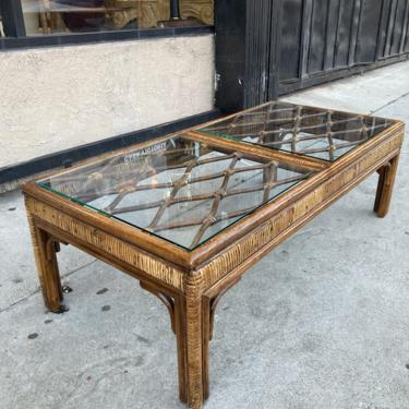 Snuggly Ride   Rattan Coffee Table