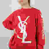 Bootleg Yves Saint Laurent Raglan Sweatshirt