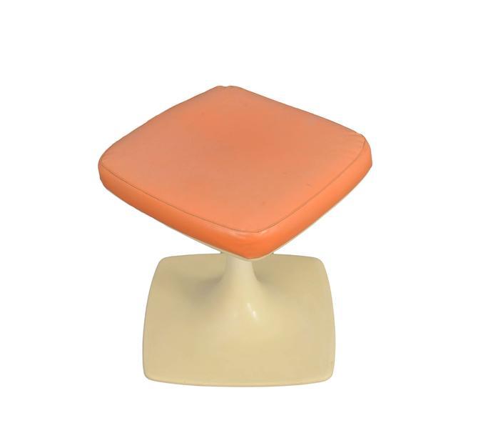 Tulip Based Stool Vanity Seat Eero Saarinen Style by HearthsideHome