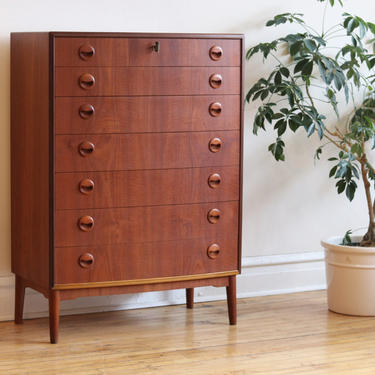 Mid Century Danish Modern Kai Kristiansen Highboy Dresser by SharkGravy