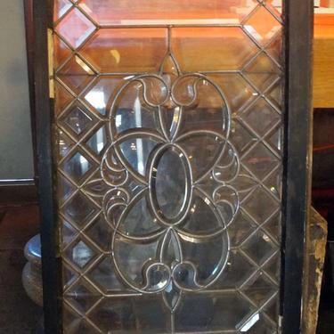 Picket Beveled Glass w Fluer Center
