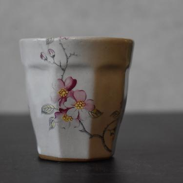 Cherry blossom Ceramic Espresso Cup, 4 oz cup, Macchiato cup, coffee lover gifts, Housewarming gift by claylicious