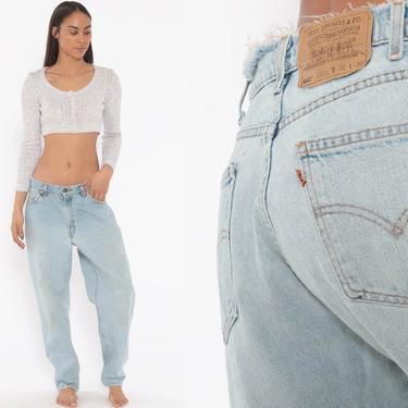 Distressed Levis Mom Jeans 30 -- High Waist Jeans 80s Jeans Blue Jeans Levi High Waist Denim Pants 560 Tapered 1980s Vintage Medium 30 x 29 by ShopExile