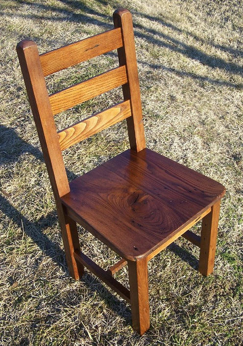 Reclaimed Antique Wormy Chestnut Rustic Dining Chairs by BarnWoodFurniture