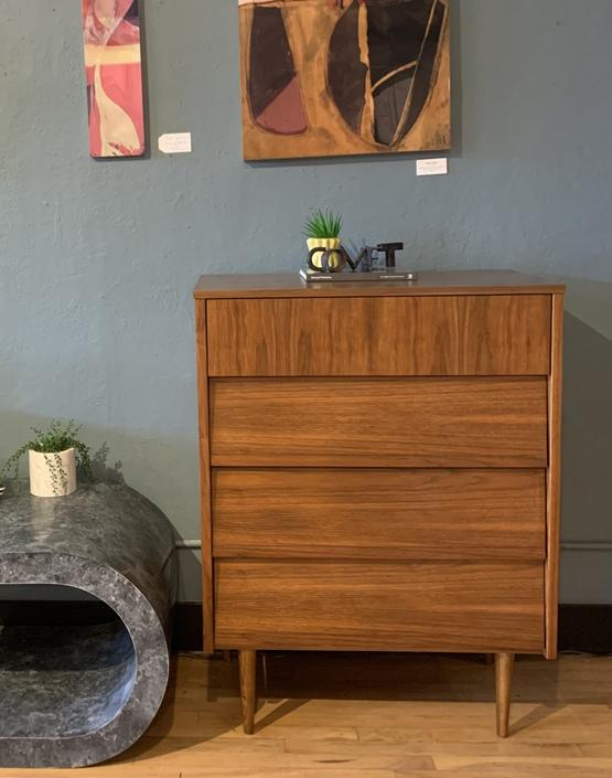 Refinished Mid-Century Petite Tallboy Dresser