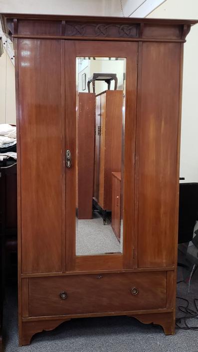 Item #V611 Antique Single Door Armoire c.1915