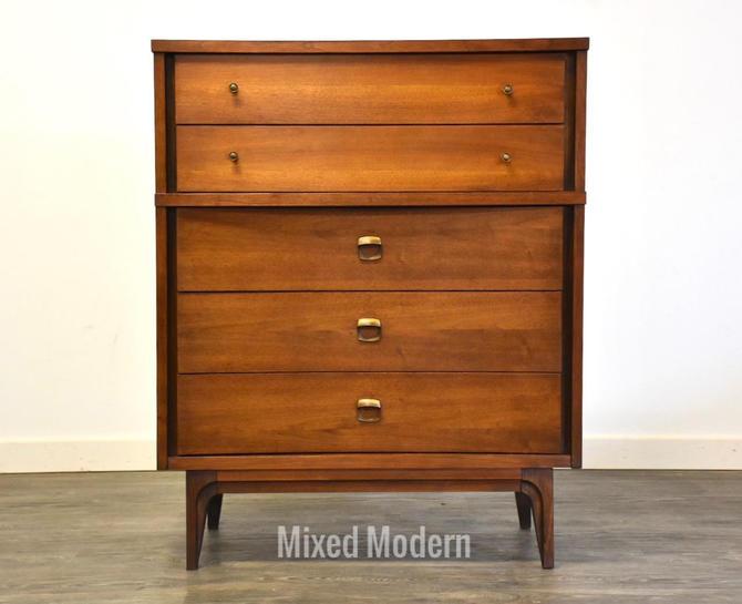 Walnut Tall Dresser by Johnson Carper by mixedmodern1