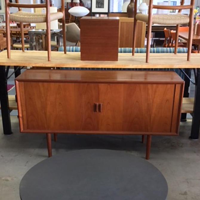 HA-19043 Petite Danish Teak Tambour Sideboard