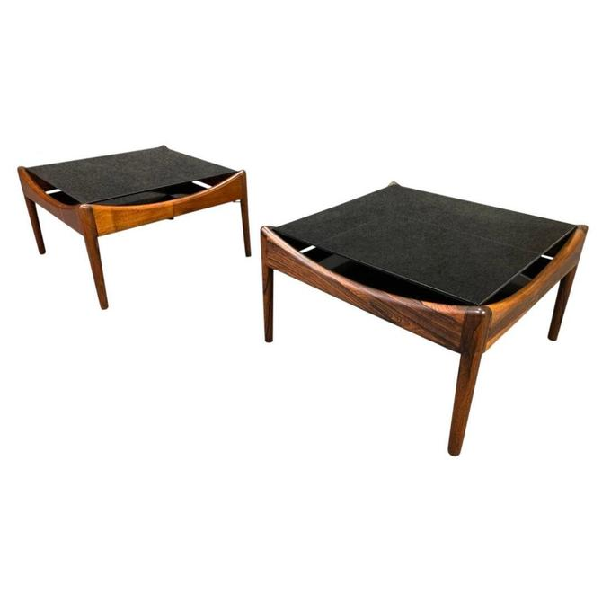 "Pair of Vintage Mid Century Modern Rosewood ""Modus"" Side Table by Kristian Vedel by AymerickModern"