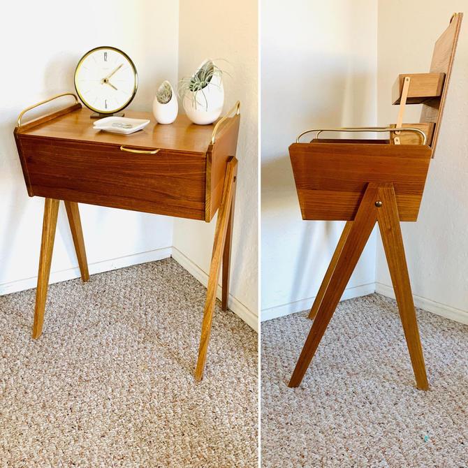 Sewing Box Vintage, Wooden Jewelry Box, Keepsake Box, Storage Box, Mid Century Storage, Knitting Box, Vintage Sewing, Notion Storage by dadacat