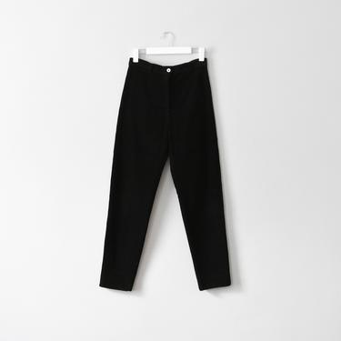 vintage tapered high waist black corduroy pants, size M by ImprovGoods