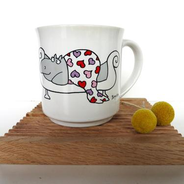 Vintage Sandra Boynton Hippo Mug, Boynton I Love You More Than Chocolate Itself, Valentines Love You Mug, by HerVintageCrush