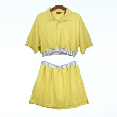 2pc Yellow Izod knit polo dress