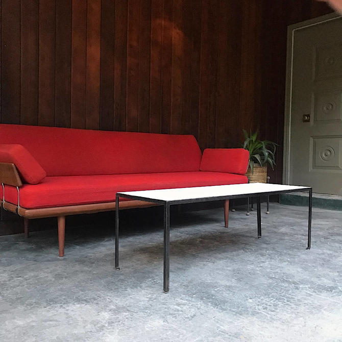 Vintage 60s George Nelson Associates designed Steel Frame Coffee Table for Herman Miller Mid-Century by BrainWashington