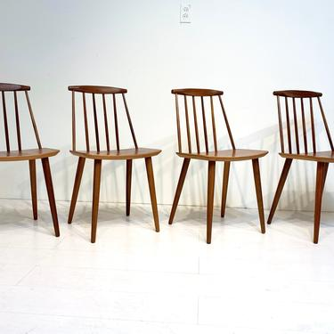 Mid Century Modern J77 Dining Chairs by Folke Palsson for FDB Mobler - Set of 4 by XcapeVintage